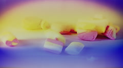 Candies colorful picking delicious timelapse Stock Footage