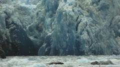 Alaska Glacier Ice Zoom Shot Stock Footage