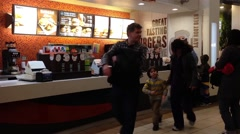 One side of a&w fast food restaurant Stock Footage