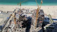construction business real estate building Dubai economy beach tourist tourism - stock footage