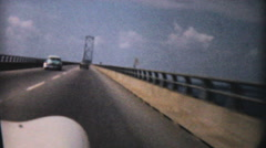 Driving On Causeway To Ocean City-1958 Vintage 8mm film - stock footage