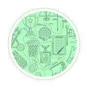 Green background for golf Stock Illustration