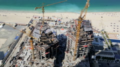 Construction real estate building Emirates industry coastal tourist tourism Stock Footage