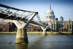 Millennium Bridge London - stock photo