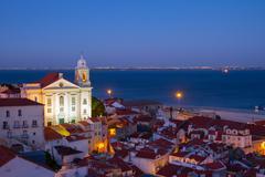 view of Alfama, Lisbon, Portugal - stock photo