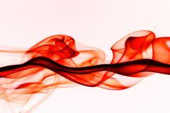 beautiful smoke on the white background - macro photo - stock illustration