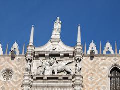 Venice, doge's palace - saint mark and his lion Stock Photos