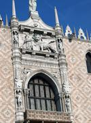 Venice - doges palace facade seen from st mark's square Stock Photos