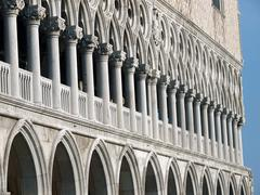 Venice - tracery from the doge's palace, one of venice symbol Stock Photos