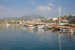 Harbour and boats Marmaris, Anatolia, Turkey, Asia Minor, Eurasia - stock photo