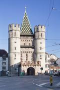 Spalentor Gate, Basel, Canton Basel Stadt, Switzerland, Europe Stock Photos