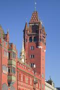 Town Hall at  Ratausplatz Square, Basel, Canton Basel Stadt, Switzerland, Europe Stock Photos