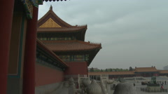 Inner Courtyard of Forbidden City 2 Stock Footage