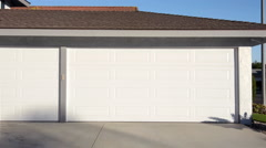 Stock Video Footage of Opening garage door