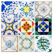 Antique tiles of  Lisbon Stock Photos