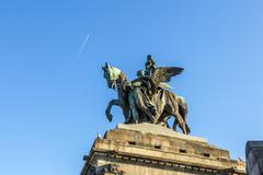 Stock Photo of monument to kaiser wilhelm i (emperor william) on deutsches ecke (german corn