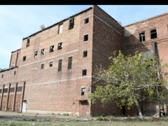Old brick building of shop. Related clips are in my portfolio in 1920x1080. - stock footage