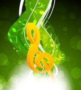 background with g-clef - stock illustration