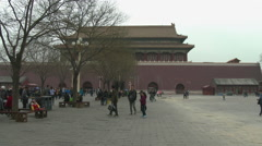 Outer Courtyard of Forbidden City Stock Footage