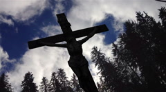 Jesus Christ Crucified Cross - stock footage