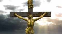 Jesus Christ Crucified Cross Bible Stock Footage