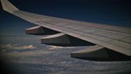 Stock Video Footage of Night flight turbulence TL 4K