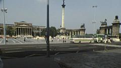 Budapest 1983: Hosok tere (Heroes' Square) Stock Footage