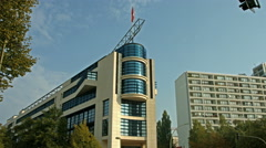 Willy Brandt Haus Berlin, SPD headquarter Stock Footage