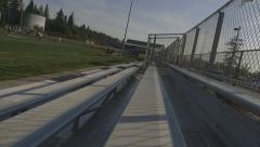 bleachers slider shot angled - stock footage