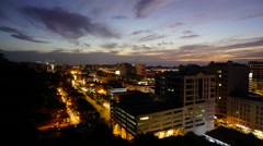 Kota Kinabalu City view time lapse from day to night Stock Footage