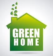 Stock Illustration of eco house design