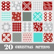 seamless patterns with snowflakes, for invitations, cards, scrapbooking, print - stock illustration