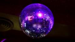 The disco ball, mirror ball Stock Footage