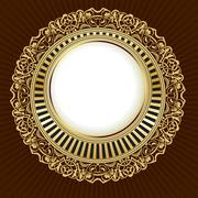 Gold frame Stock Illustration