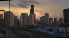 Chicago sky line time lapse Stock Footage