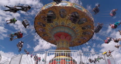 2d carnival swing ride Stock Footage