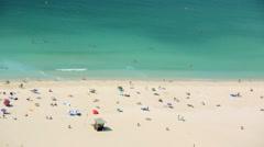 Stock Video Footage of ocean beach vacation coastal destination Dubai UAE travel tourism lifestyle