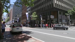 The famous George Street in Sydney, New South Wales, Australia Stock Footage