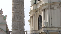 ST. CHARLES'S CHURCH KARLSKIRCHE 4 CU TILT UP OUTSIDE Stock Footage