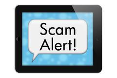 Stock Illustration of scam alert