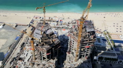 Time lapse construction real estate Emirates industrial coastal tourist tourism Stock Footage