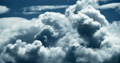 4k time lapse of white puffy cloud mass flying in sky,heaven,Tibet plateau. Stock Footage