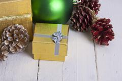 Background of christmas decoration Stock Photos