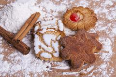 artisan cookies in the kitchen - stock photo