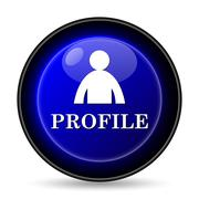 profile icon. internet button on white background.. - stock illustration