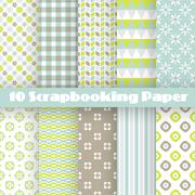 Pattern papers for scrapbook Stock Illustration
