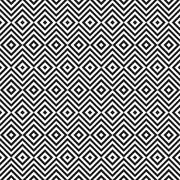 Ethnic tribal zig zag and rhombus seamless pattern. - stock illustration