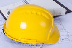 Construction helmet architect Stock Photos