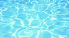 Blue Water in the Pool. Background Texture. Slow Motion. Stock Footage