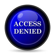 Stock Illustration of access denied icon. internet button on white background..